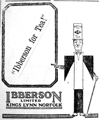 1922 Mar 17th Ibbersons Tea Man