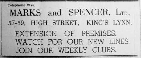 1937 Oct 1st Marks & Spencer