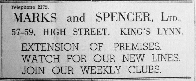 1937 Oct 1st Marks & Spencer