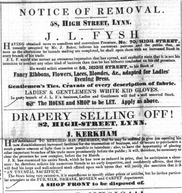 1853 Feb 5th J L Fysh @ 58