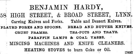 1896 4th Dec 58 Benjamin Hardy