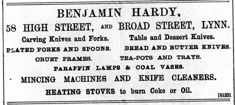 1897 Dec 10th Benjamin Hardy @ No 58
