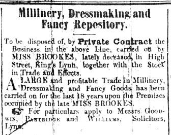 1846 Jan 19th Miss Brookes
