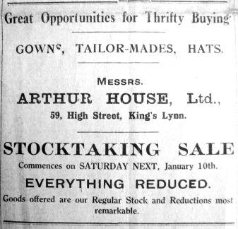 1925 Jan 9th Arthur House Ltd