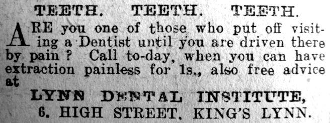 1913 July 11th Lynn Dental Institute