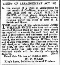 1897 Oct 8th John William Smith @ No 60