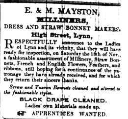 1843 Nov 7th E & M Mayston