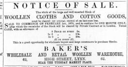 1870 Jan 29th J C Baker @ No 62