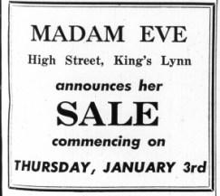 1963 Jan 1st Madam Eve @ No 62