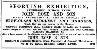 1890 November 29th John Rose & Son @ Nos 63 & 64