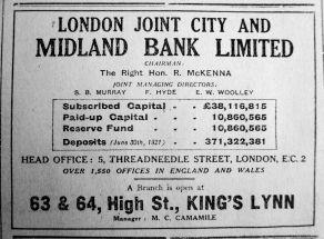 1921 Dec 2nd Midland Bank opens