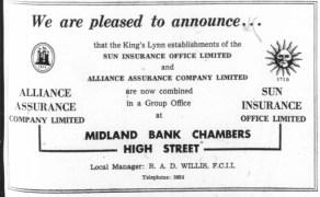 1963 Jan 8th Alliance & Sun Insurance @ Bank Chambers 63 & 64