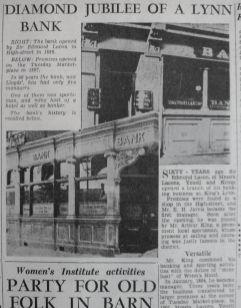 1889 Lacon & Youells Bank at No 65 (LN & A 10th June 1949)