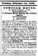 1842 Feb 1st J Scott @ 66
