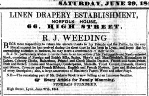 1844 June 29th R J Weeding @ 66