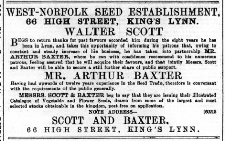 1894 Jan 6th WALTER SCOTT @ No 66