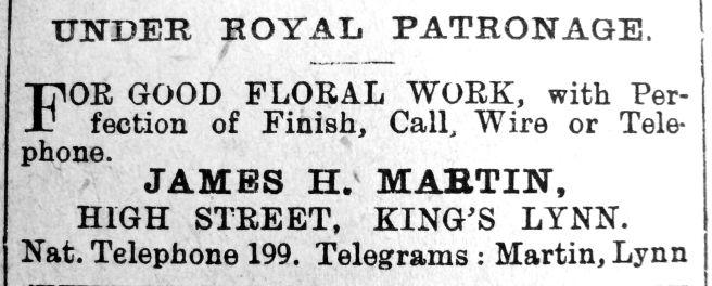 1910 May 20th J H Martin