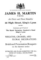 1924 JH Martin (Holcombe Ingleby Treasures of Lynn)