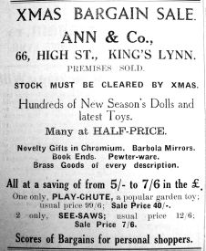 1936 Nov 13th Ann & Co selling up