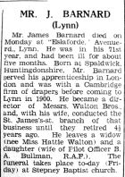1942 June 5th obit J Barnard former director Walton Bros
