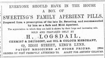 1889 January 5th Henry Logsdail @ No 69