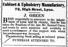 1848 Feb 26th J Green @ 72