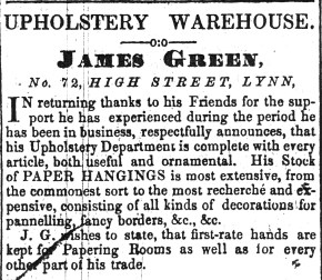1849 April 14th James Green