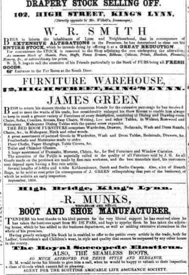 1854 Oct 28th James Green @ No 72