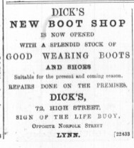 1887 January 1st Dicks @ No 72