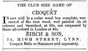 1864 August 13th Birch & Son @ No 74 (01)