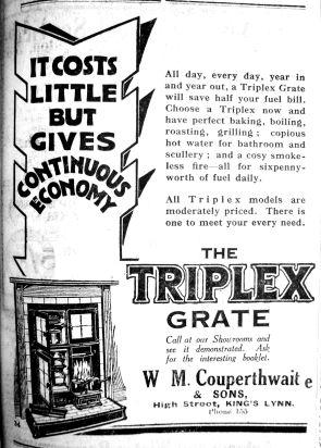 1929 Aug 30th W M Couperthwaite