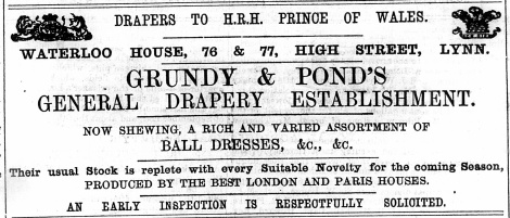 1874 November 14th Grundy & Pond @ Nos 76 & 77