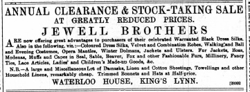 1888 January 7th Jewell Bros @ Nos 76 & 77