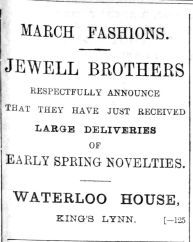 1892 Feb 27th Jewell Bros Waterloo House