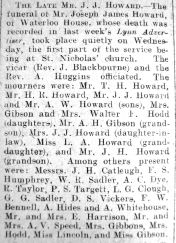 1928 Apr 13th funeral J J Howard