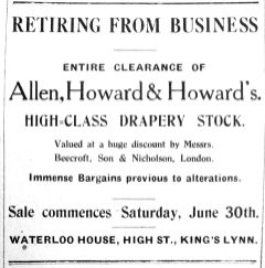 1928 July 6th Allen Howard & Howard retiring