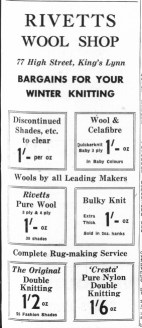 1963 Jan 4th Rivetts Wool Shop @ No 77