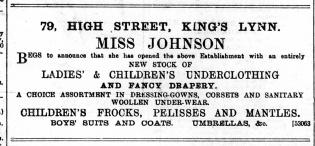 1892 Sept 10th Miss Johnson @ No 79