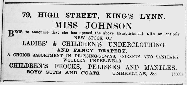 1892 Sept 24th Miss Johnson @ 79