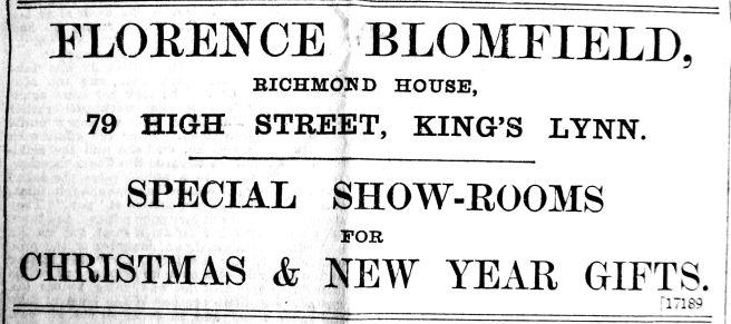 1904 Dec 2nd Florence Blomfield @ 79