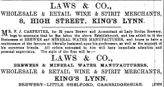 1889 Nov 23rd Laws & Co