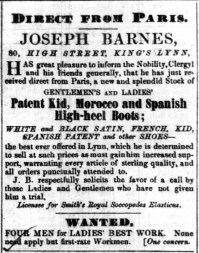 1853 April 16th Joseph Barnes @ No 80