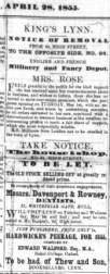 1855 April 28th Mr Rowney visiting @ No 80