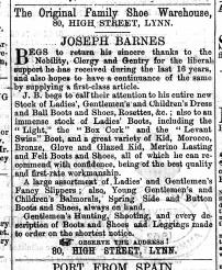 1866 Feb 9th Joseph Barnes @ No 80