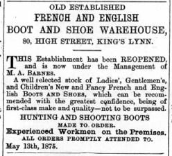 1875 July 10th M A Barnes @ No 80