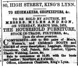 1875 March 20th selling off Barnes stock @ No 80