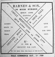1921 Feb 4th Barnes & Son