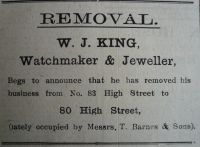 1923 Sept 21st W J King moves to No 80