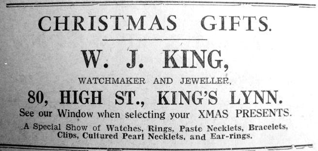 1939 Dec 22nd W J King