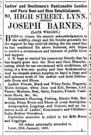 1961 Feb 2nd Joseph Barnes @ No 80